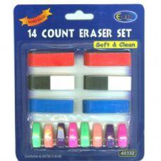 48 of Neon 14 ct eraser set