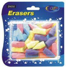 48 of Pencil Top Erasers, 30 Ct., Asst. Colors