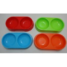 36 of Small Double Pet Dish [Bright Colors]
