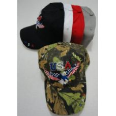 24 of USA Eagle Hat with Flag Wings