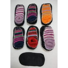 12 of Kids Non-Slip Knitted Booties 6-8