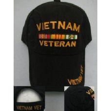 24 of Vietnam Veteran Hat-All Black