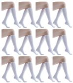 60 of Womens Knee High Socks White Size 9-11