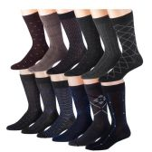 60 of Mens 3 Pack Dress Sock Size 10-13 Assorted Color Only