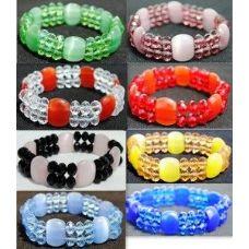 36 of Cat eyes Crystal bracelet jewelry