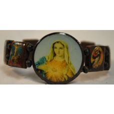 120 of Wood Bracelet Rosary Mary