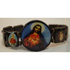 120 of wood bracelet rosary jesus