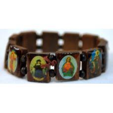 120 of bracelet rosary saint brown