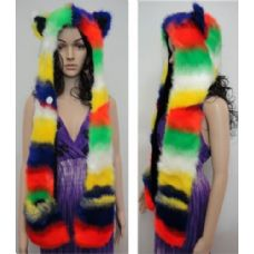 12 of Full Animal Hood with Mittens [Rainbow]