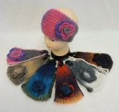 12 of Hand Knitted Ear Band w/ Flower [Color Fade]