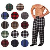 36 of Men's Flannel Pajama Bottoms In Assorted Plaid Patterns And Assorted Sizes (S,M,L,XL)