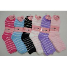 240 of Fuzzy Socks 9-11 [Thin Stripes]