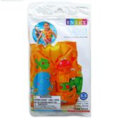 "24 of 16""X12"" TROPICAL BUDDIES SWIM VEST IN PEGABLE POLY BAG"