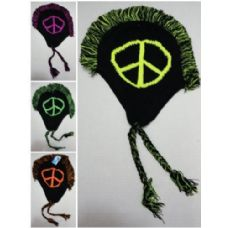 12 of Knitted Mohawk Hat with Ear Flaps [Peace]
