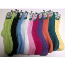 120 of Yacht & Smith Women's Solid Colored Fuzzy Socks Assorted Colors, Size 9-11