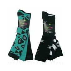 60 of Ladies 3 Pack Animal Print & SKull Knee High Sock