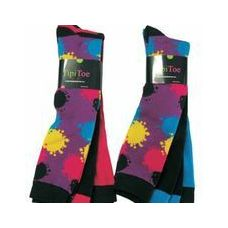 60 of Ladies 3 Pack Splattered Paint Knee High Sock