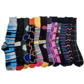 60 of Men's Assorted Prints Dress Socks