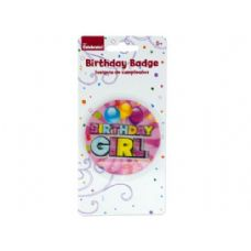 288 of holographic girl birthday badge