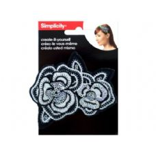 144 of simplicity embroidered sequin flower headband accent