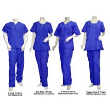 16 of 2 Pc Set Scrub Set Royal Blue Only