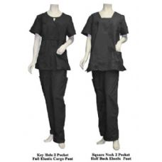12 of 2 Pc Set Scrub Set Black Only