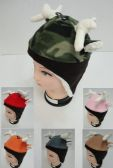 24 of Kid's Fleece Hat w Antlers & Ears [Fleece Lining & Ear Flaps]