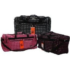 """12 of 30"""" Black with Pink Polka Dots Tote"""
