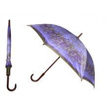 60 of 40 Inches 8 Ribbed Diameter Cane Printed Umbrella