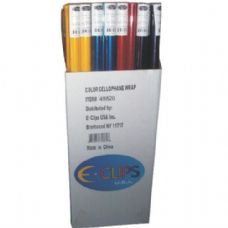 "75 of Cellophane Rolls - asst. Colors - 30"" x 12.5sqft"