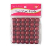 48 of Dreadlock Hair Wood Beads Wine