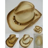 24 of Paper Woven Cowboy Hat [Beaded Band]