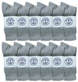 120 of Yacht & Smith Junior Boys Premium Cotton Crew Socks Gray Size 9-11