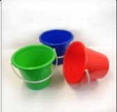 48 of Plastic Pail With Handle 2.5 Gallon