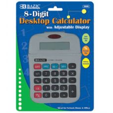 144 of BAZIC 8-Digit Calculator w/ Adjustable Display