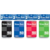 """72 of BAZIC 50 Ct. 4"""" X 6"""" Top Bound Spiral Memo Books (2/Pack)"""