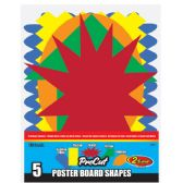 96 of 5 Pre-Cut Poster Board Shapes