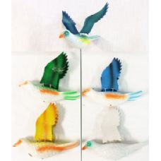 72 of Garden Stake Decoration Dove Piegon Assorted Colors