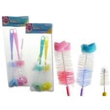 72 of 3PC Baby Bottle Brush Set 2 Bottle Brushes+1 Nipple Brush