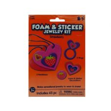 108 of Wholesale Strawberry Foam and Sticker Jewelry Kit