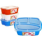 48 of 3 Section food storage with Lids