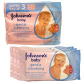 12 of J & J Baby Wipes 56CT 3PK