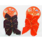 "144 of X-MAS BOW 3/SET 5"" PVC"