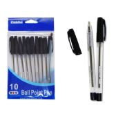 144 of 10 Pack Black Ball Point Pen
