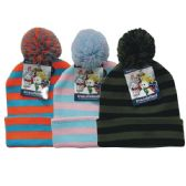 36 of Winter Kid's Pom Pom Hat Stripe