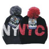 24 of Winter Ladies Pom Pom Hat NYC