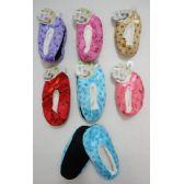 24 of Child's Fleece-Lined Footies [Footprints]