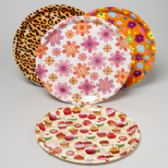 96 of Serving Tray Round Flat 13.75 Inch 4 Asst Designs In Pdq