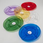 96 of Tray 5 Section Oval 12-1/2x9-3/4 6 Colors In Pdq