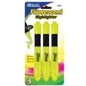 48 of BAZIC Yellow Desk Style Fluorescent Highlighters w/ Cushion Grip (3/Pack)